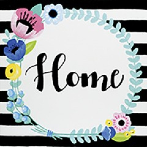 Floral Home Wreath