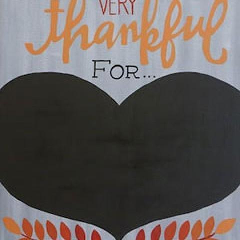 Thankful For...(Chalkboard)