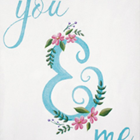 You and Me Ampersand