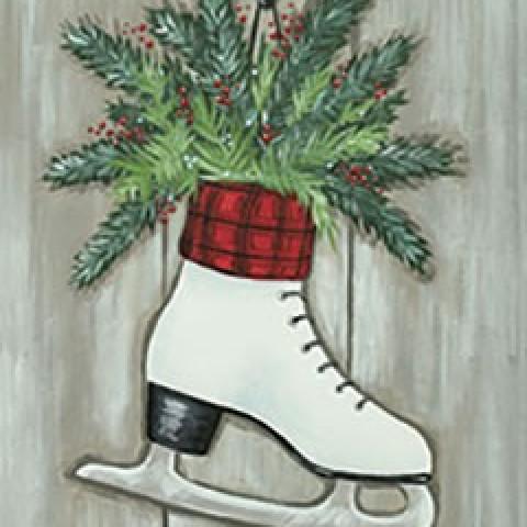 Ice Skate Evergreens