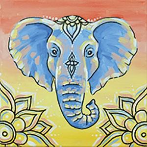 Colorful Elephant Design Template