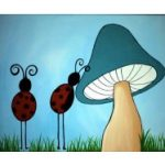 Lady Bug Home Sweet Home Canvas Project