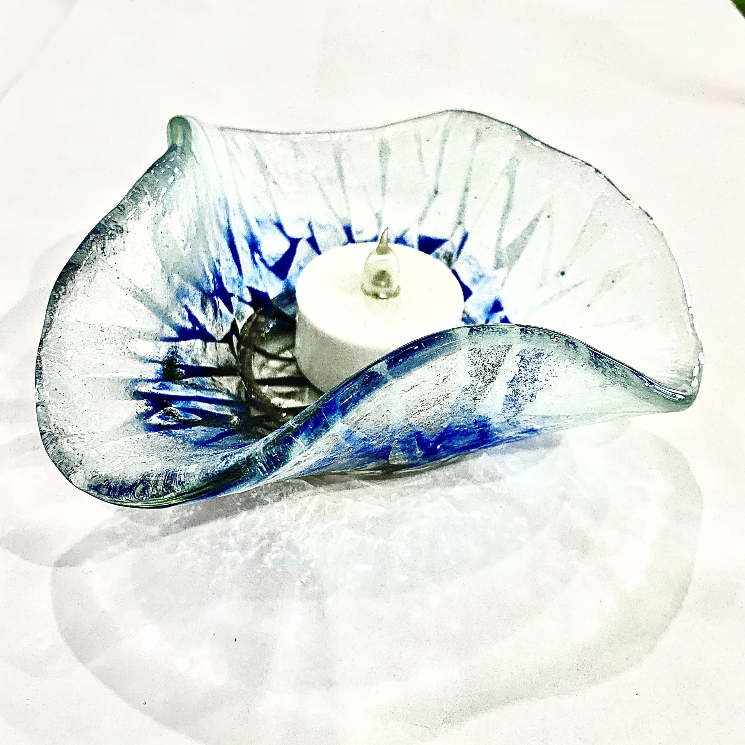 Fused Glass Candle Votive