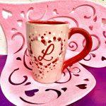 Heart Monogram Mug