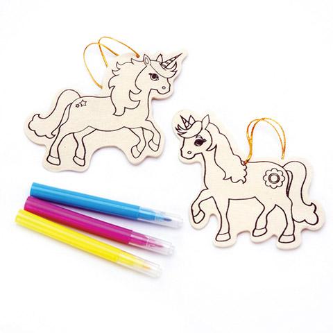 Wood Ornament Kit - Unicorn - Makes 2