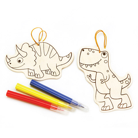 Wood Ornament Kit - Dinosaur - Makes 2