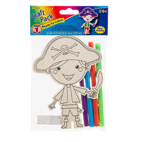 Wood Kit With Markers - Pirate - 6-1/2 Inches