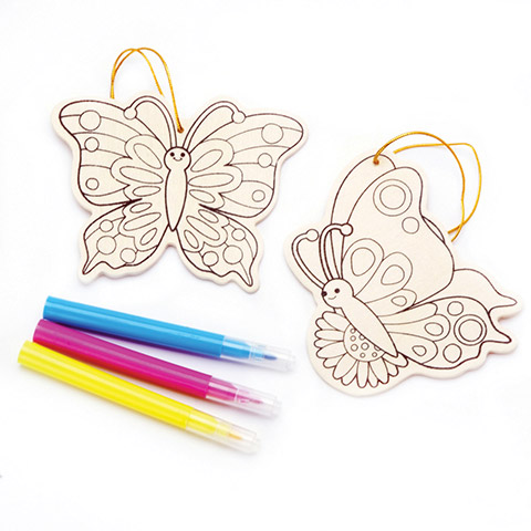 Wood Ornament Kit - Butterfly - Makes 2