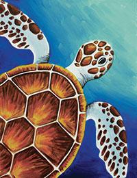 Sea Turtle Design Template