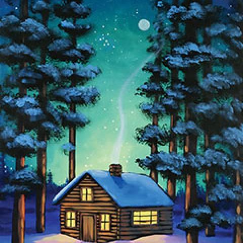 Warm Winter Cabin