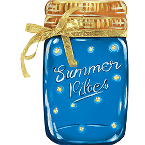 Summer Vibes 18x10.6 Mason Jar Board Project