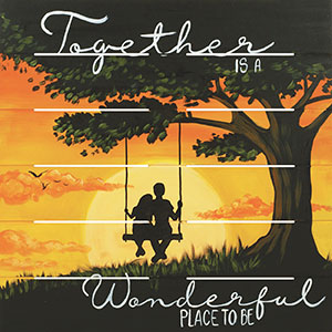 Together Is Wonderful 18x18 Board Project