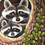 Curious Raccoons Design Template
