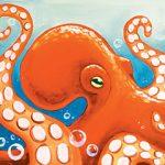 Orange Octopus Design Template