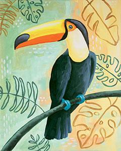 Tropical Toucan Design Templat